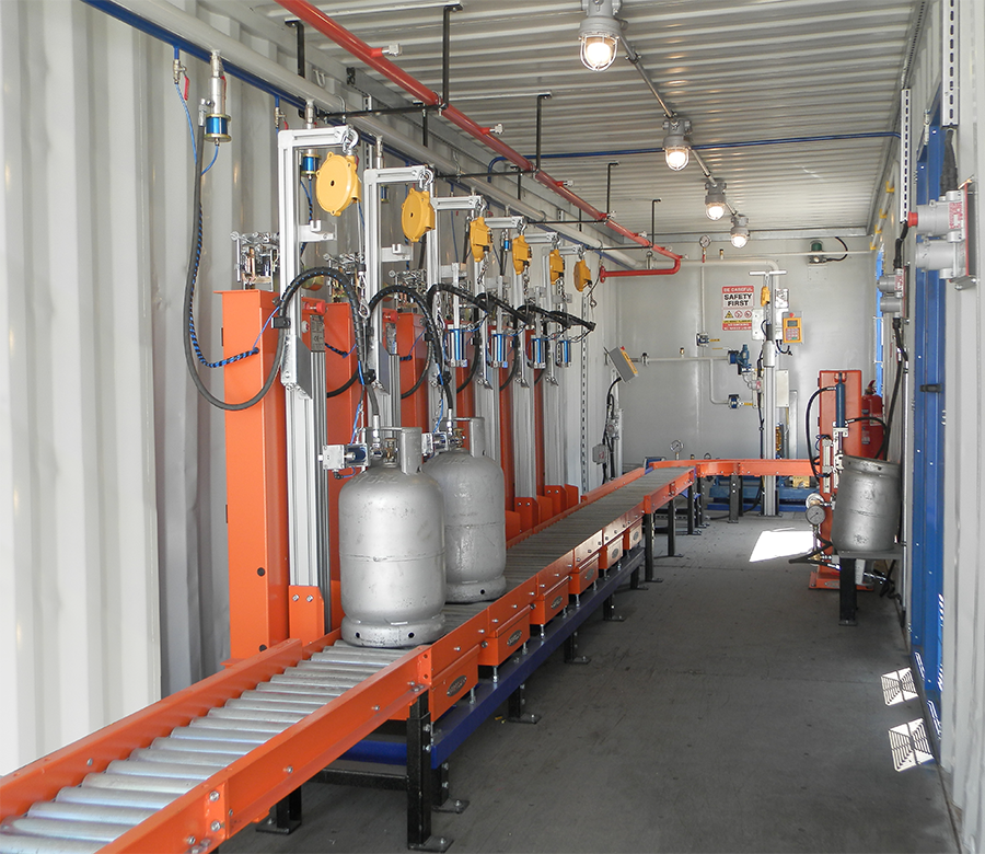 Container Type Lpg Filling Station